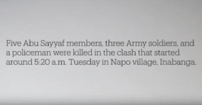 YouTube ボホール島でのテロとの戦い