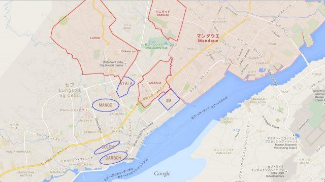 セブ市(Cebu City)の地図