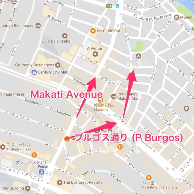 ブルゴス Burgos St 地図