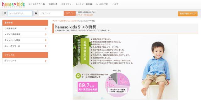 hanaso kids_トップページ