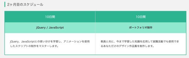 Kredo Webデザイン スケジュール 2