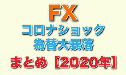 FX 2020年 コロナショック